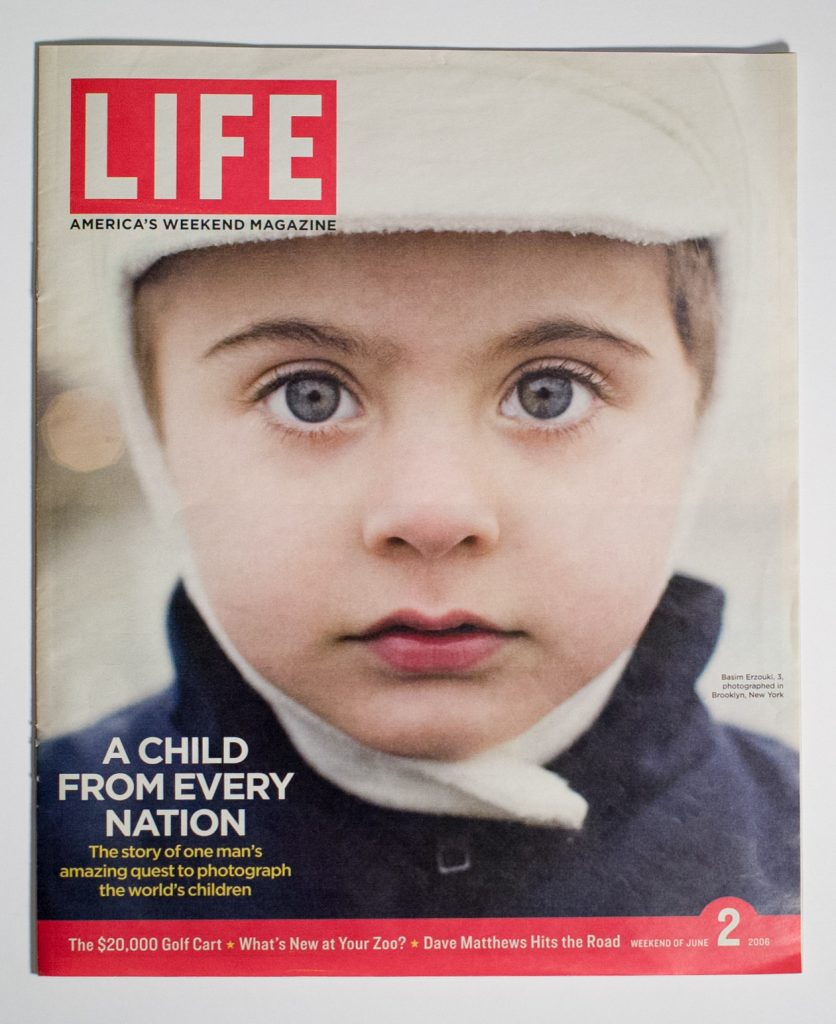 Photography Portrait of a boy on the cover of Life Magazine for a feature story on 1 Earth City project by Danny Goldfield.